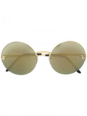 Round frame sunglasses Cartier. Цвет: металлик