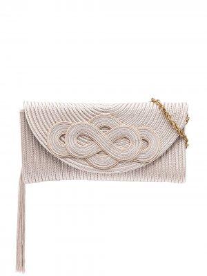 Клатч с плетением Shanghai Tang. Цвет: нейтральные цвета
