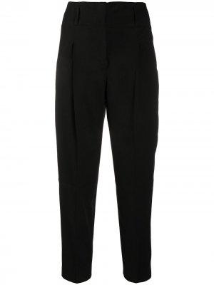 Укороченные брюки строгого кроя Peserico. Цвет: черный