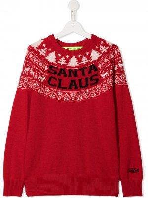 Джемпер Santa Claus Mc2 Saint Barth Kids. Цвет: красный