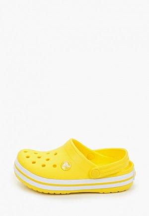Сабо Crocs. Цвет: желтый