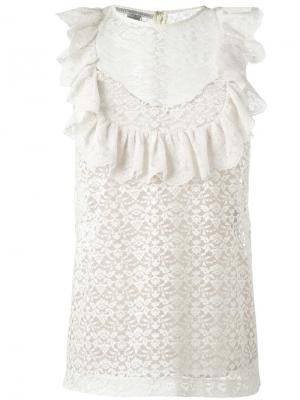 Блузка без рукавов Stella McCartney. Цвет: нейтральные цвета