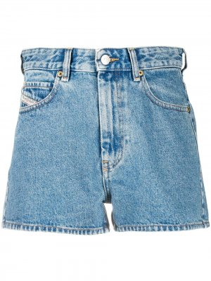 Прямые джинсы с завышенной талией Diesel. Цвет: синий