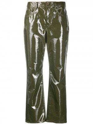 Укороченные брюки Vivetta. Цвет: зеленый