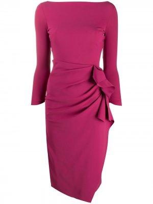 Платье Zelma со сборками сбоку Le Petite Robe Di Chiara Boni. Цвет: фиолетовый