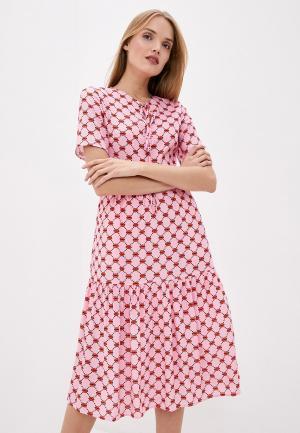 Платье Markus Lupfer. Цвет: розовый