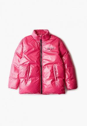 Пуховик N21. Цвет: розовый