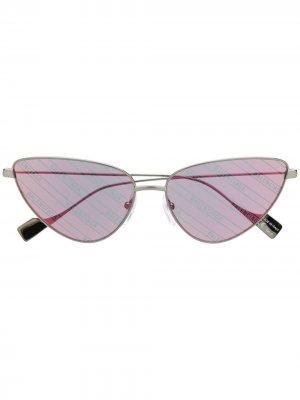 Солнцезащитные очки в оправе кошачий глаз Balenciaga Eyewear. Цвет: серебристый
