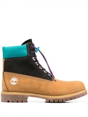 Ботинки в стиле колор-блок Timberland. Цвет: желтый