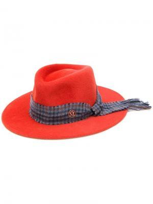 Классическая панама Maison Michel. Цвет: красный