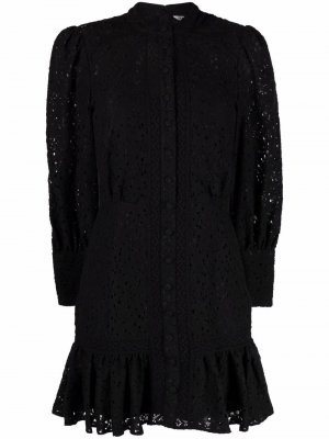 Кружевное платье Hilda Veronica Beard. Цвет: черный