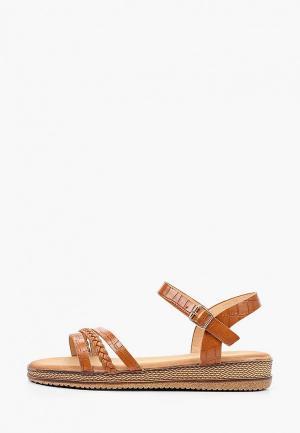 Сандалии Ideal Shoes. Цвет: коричневый