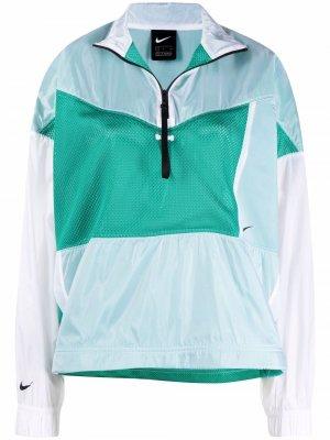 Куртка Tech Pack в стиле колор-блок Nike. Цвет: зеленый