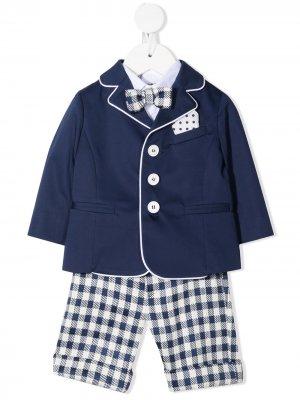 Костюм-тройка с пиджаком Colorichiari. Цвет: синий