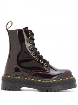 Лакированные ботинки на шнуровке Dr. Martens. Цвет: красный