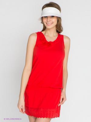 Платье CONVER. Цвет: красный