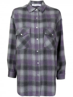 Рубашка в клетку тартан IRO. Цвет: фиолетовый