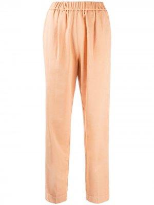 Укороченные брюки с эластичным поясом Forte. Цвет: оранжевый
