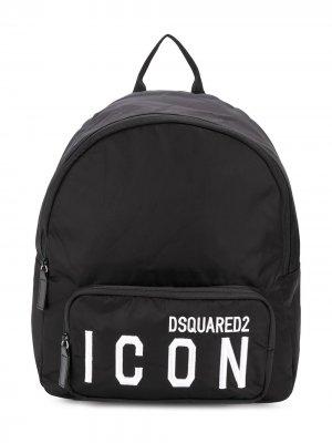 Рюкзак с логотипом Dsquared2 Kids. Цвет: черный