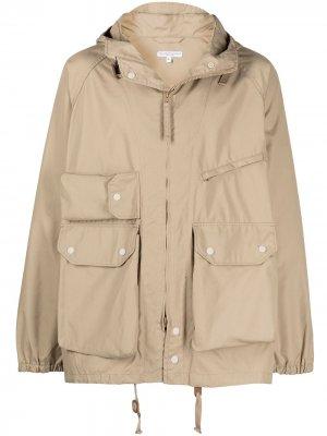 Короткая парка Atlantic Engineered Garments. Цвет: коричневый