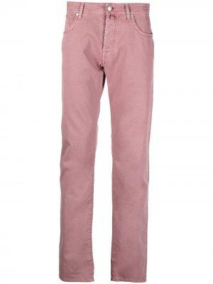 Прямые джинсы с заниженной талией Jacob Cohen. Цвет: розовый