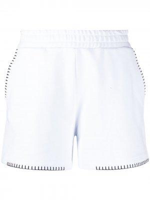 Спортивные шорты с вышивкой Dondup. Цвет: белый