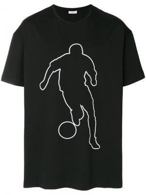 Футболка с принтом Dirk Bikkembergs. Цвет: черный