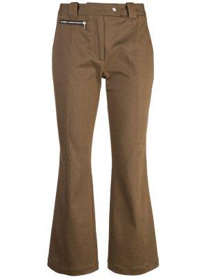 Укороченные брюки клеш Proenza Schouler. Цвет: коричневый