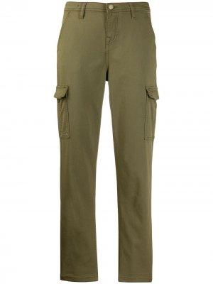 Зауженные брюки карго 7 For All Mankind. Цвет: зеленый