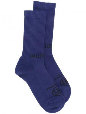 Носки с логотипом Balenciaga. Цвет: синий
