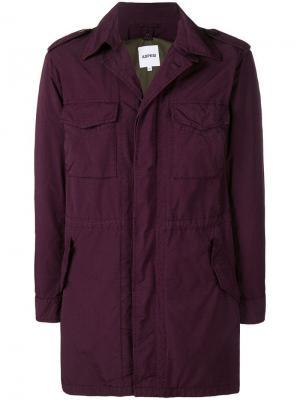 Куртка с карманами клапанами Aspesi. Цвет: красный