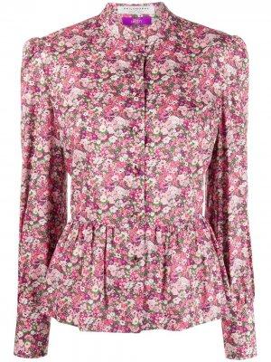 Рубашка с цветочным принтом и длинными рукавами Philosophy Di Lorenzo Serafini. Цвет: розовый