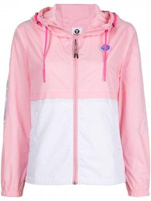 Легкая куртка с капюшоном AAPE BY *A BATHING APE®. Цвет: розовый