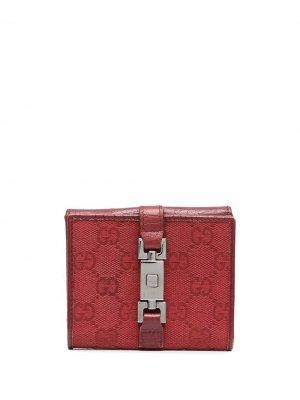 Кошелек с логотипом GG Gucci Pre-Owned. Цвет: красный