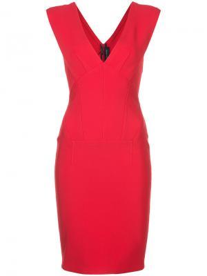 Платье с V-образным вырезом Yigal Azrouel. Цвет: красный