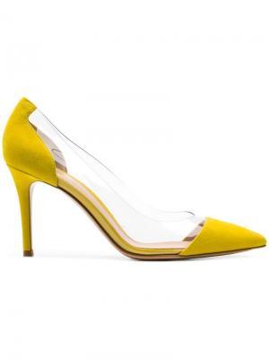 Туфли-лодочки Plexi Gianvito Rossi. Цвет: желтый