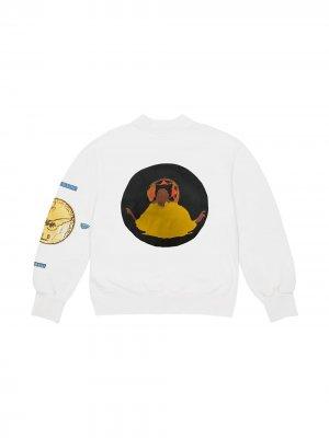 Толстовка Jesus Is King с круглым вырезом Kanye West. Цвет: белый
