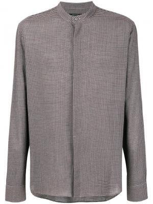 Gingham shirt Qasimi. Цвет: коричневый