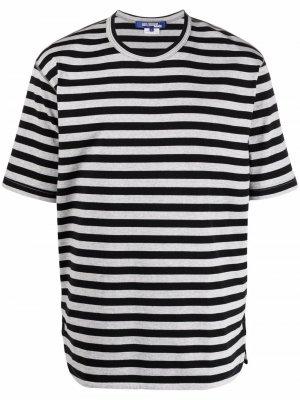 Полосатая футболка с круглым вырезом Junya Watanabe. Цвет: серый