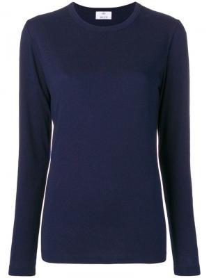 Crew neck sweatshirt Allude. Цвет: синий