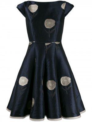 Расклешенное платье Bonitou Talbot Runhof. Цвет: синий