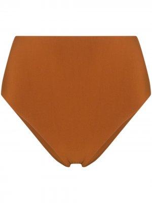 Плавки бикини Cheeky с завышенной талией Anemos. Цвет: оранжевый