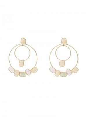Peppermint hoop earrings Rosantica. Цвет: металлик