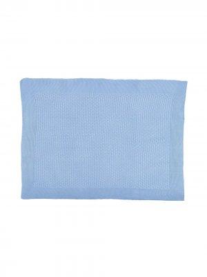 Одеяло с отделкой в рубчик Siola. Цвет: синий