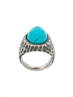 Перстень с круглым камнем Andrea D'amico. Цвет: металлик