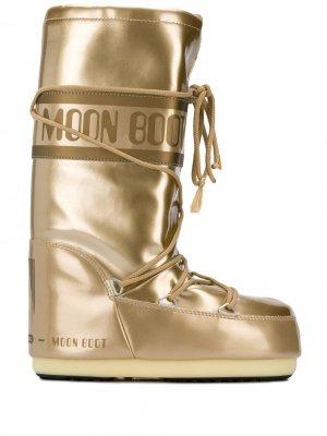 Зимние сапоги Moon Boot. Цвет: золотистый
