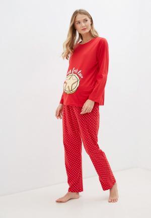 Пижама Dorothy Perkins Maternity. Цвет: красный