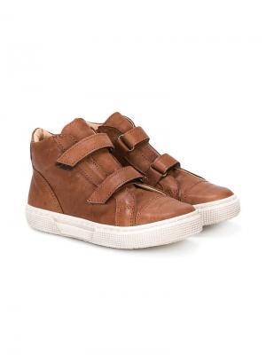 Ботинки с двойными ремешками Pépé Kids. Цвет: коричневый