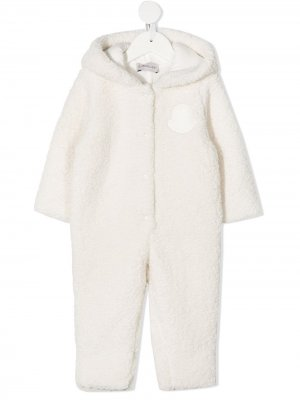 Спортивный костюм с нашивкой-логотипом Moncler Enfant. Цвет: белый