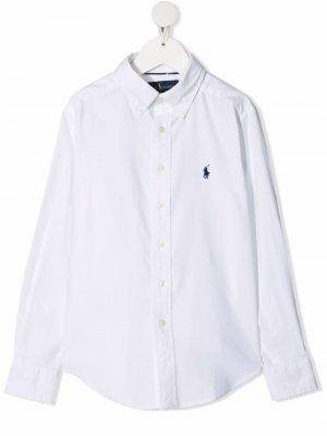 Рубашка с логотипом Polo Ralph Lauren Kids. Цвет: белый